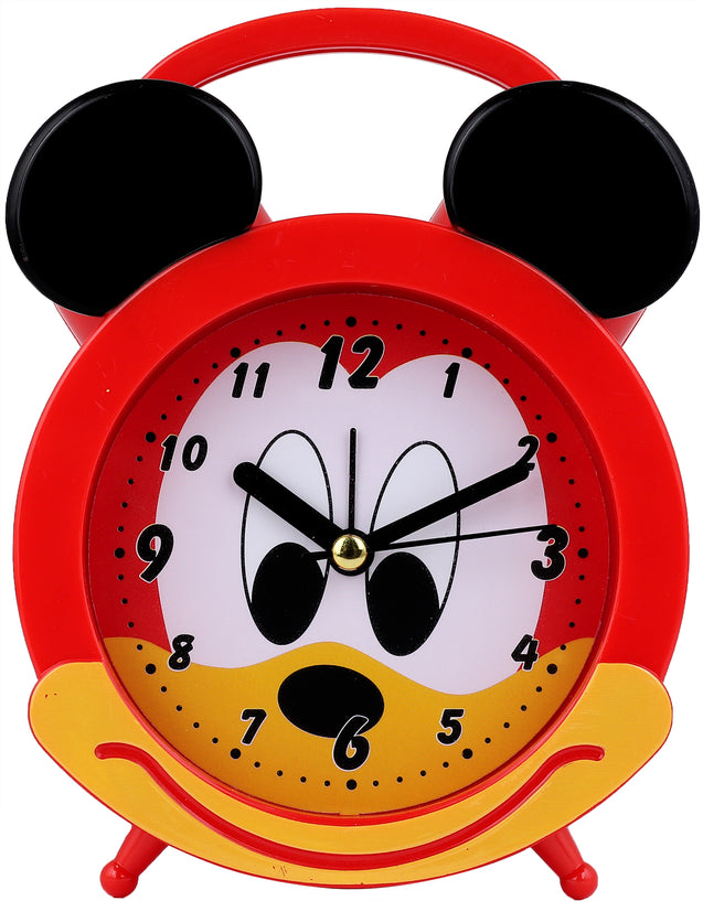 Addic Joyful Mouse Cute Red Table Clock With Alarm (Alarm Clock For Bedside, Study Table, Home Decor & Gifts)