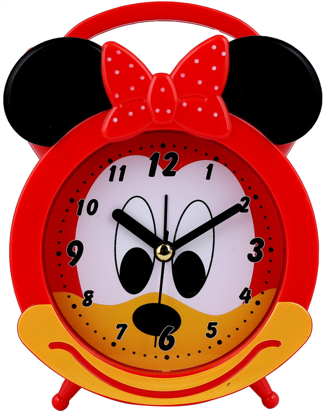 Addic Happy Mouse Cute Red Table Clock With Alarm (Alarm Clock For Bedside, Study Table, Home Decor & Gifts)