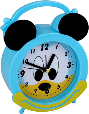 Addic Joyful Mouse Cute Sky Blue Table Clock With Alarm (Alarm Clock For Bedside, Study Table, Home Decor & Gifts)