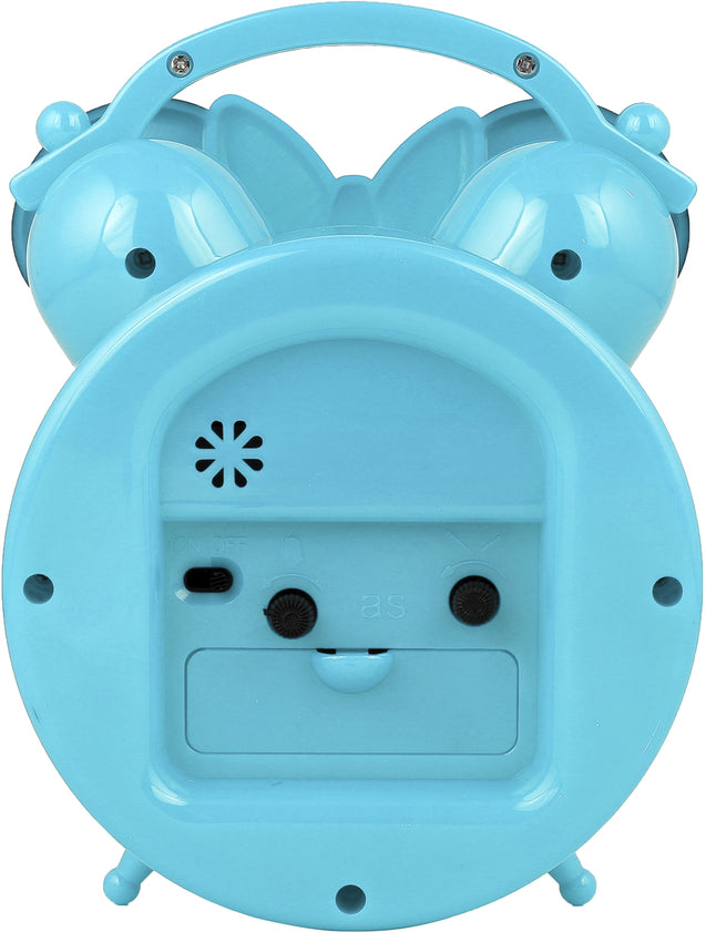 Addic Happy Mouse Cute Sky Blue Table Clock With Alarm (Alarm Clock For Bedside, Study Table, Home Decor & Gifts)