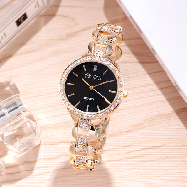 Modor Modern Classy Rose Gold Wrist Watch For Women & Girls