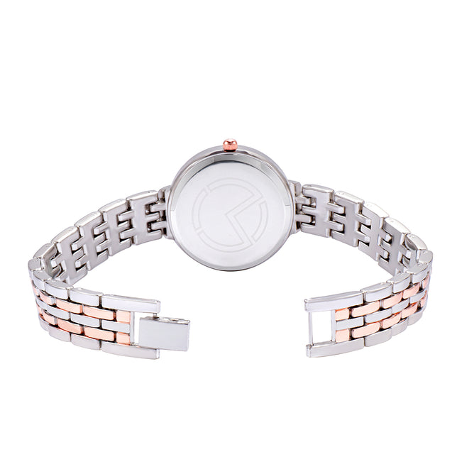 Modor Bling It On Rose Gold Silver Black Studded Chain Watch For Women & Girls