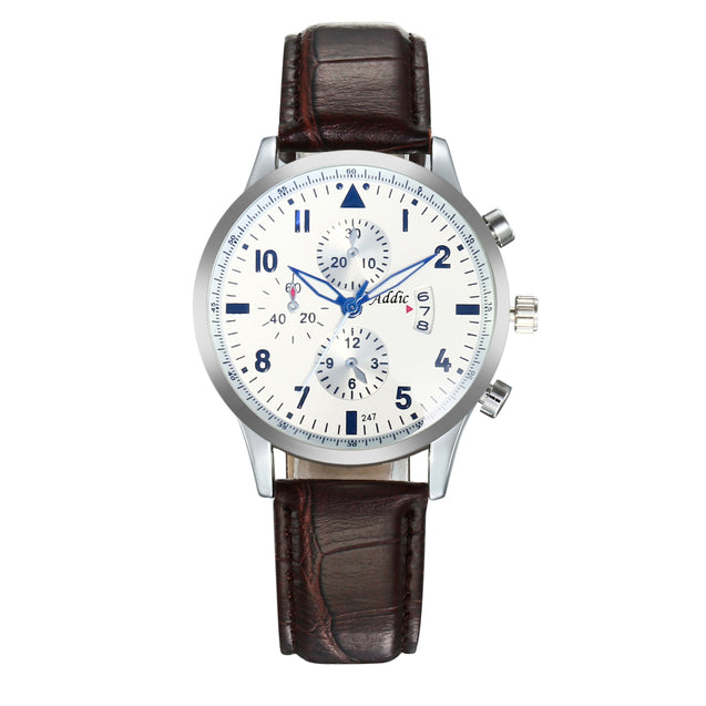 Addic Elegenant & Classy Three-Date Watch For Men