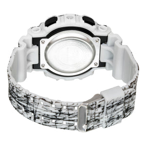 Time Warp Shredded White Multi Function Digital Chameleon Wrist Watch For Boys & Men