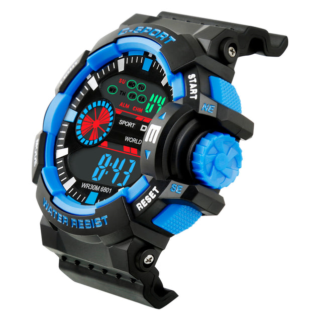 Time Wrap Future Tech Multi Function Blue Digital Wrist Watch For Men & Boys