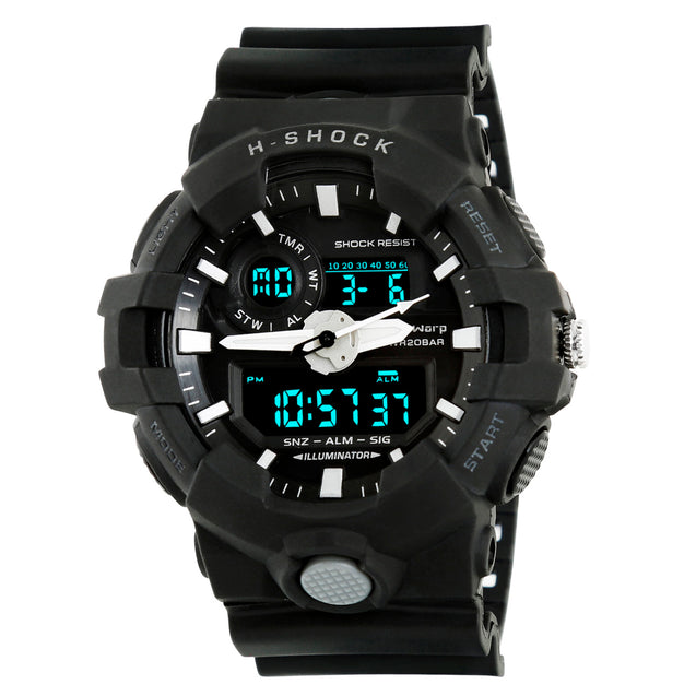 Time Warp Hi Tech Day Date Multi Function Analog Digital Black Wrist Watch For Men & Boys