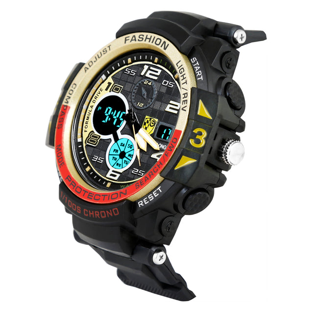 Time Warp Race Course Digital Multi Function Wrist Watch For Men & Boys