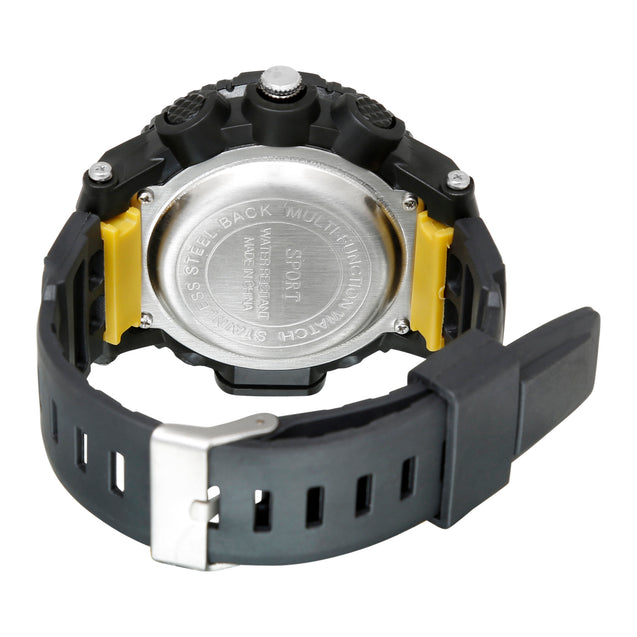 Time Warp Race Course Gold Digital Multi Function Wrist Watch For Men & Boys