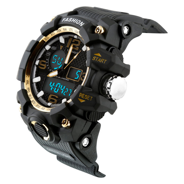 Time Warp Gold Rush Analog Digital Multi Function Wrist Watch For Men & Boys