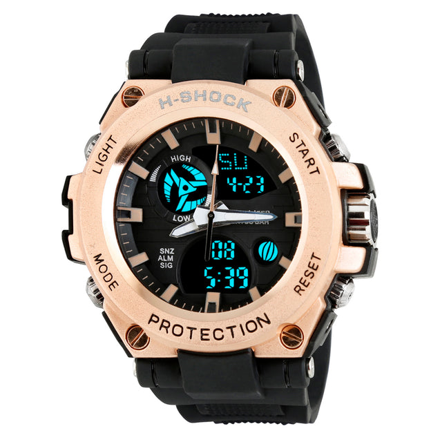 Time Warp Big Guy Rose Gold Analog Digital Multi Function Wrist Watch For Men & Boys