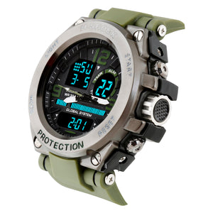 Time Warp Diver's Green Analog Digital Multi Function Wrist Watch For Men & Boys
