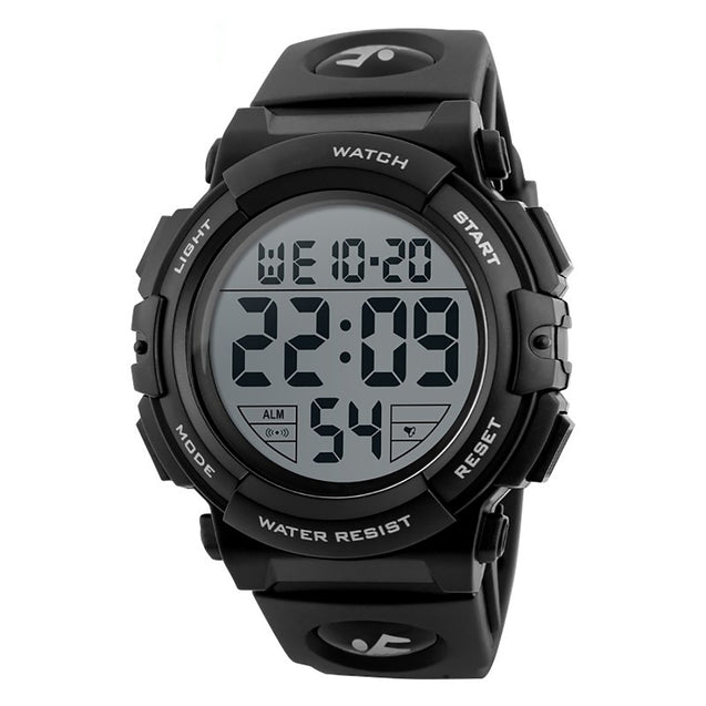 Digilog Diver's Display Black & White Multi Function Digital Sports Watch For Men & Boys