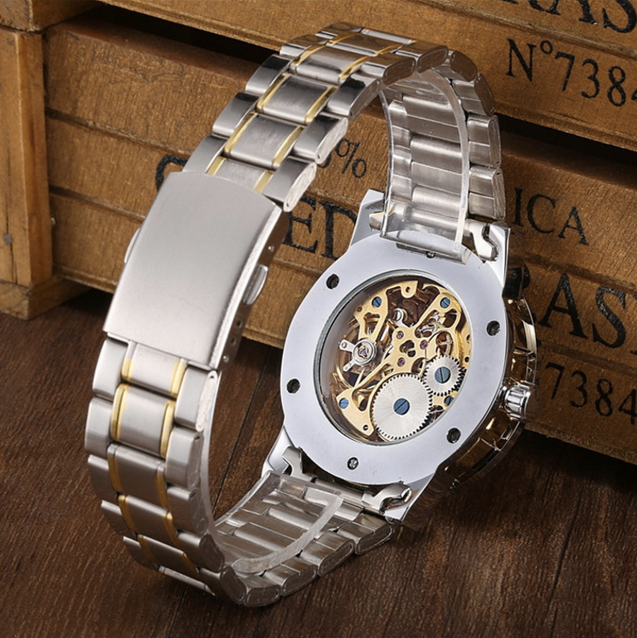 Winner Super Luxury Classy Mechanical (Without Battery For Life)! Men's Watch