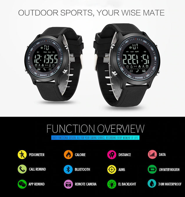 Wrath Smart Bluetooth Connected Black Strap Activewear Smart Watch (Pedometer, Call, Camera Operations, App Notifications, Calories & more -Andriod & iOS Apps available)
