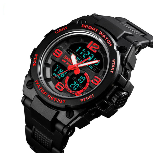 Digilog Techno Red Digital & Analog Multi Function Watch for Men & Boys