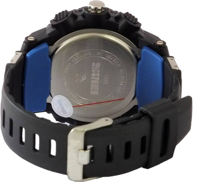 Digilog Bold Blue Stylish Strap Multi Function Dual Time Analog-Digital Wrist Watch For Men & Boys