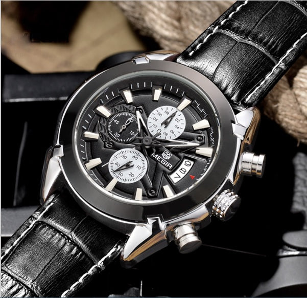 Megir CEO - The Professional Chronometer Watch with 3D Sculpted Dial for Men