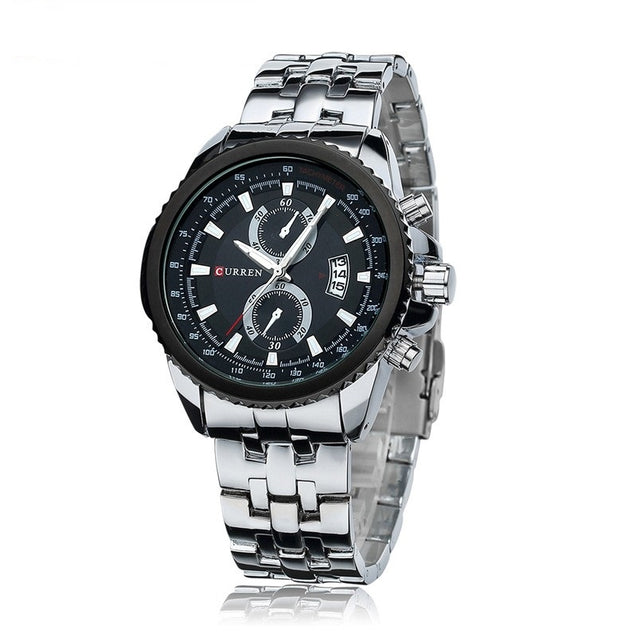 Curren Black Trim Triple Date Analog Watch - For Men By Addic