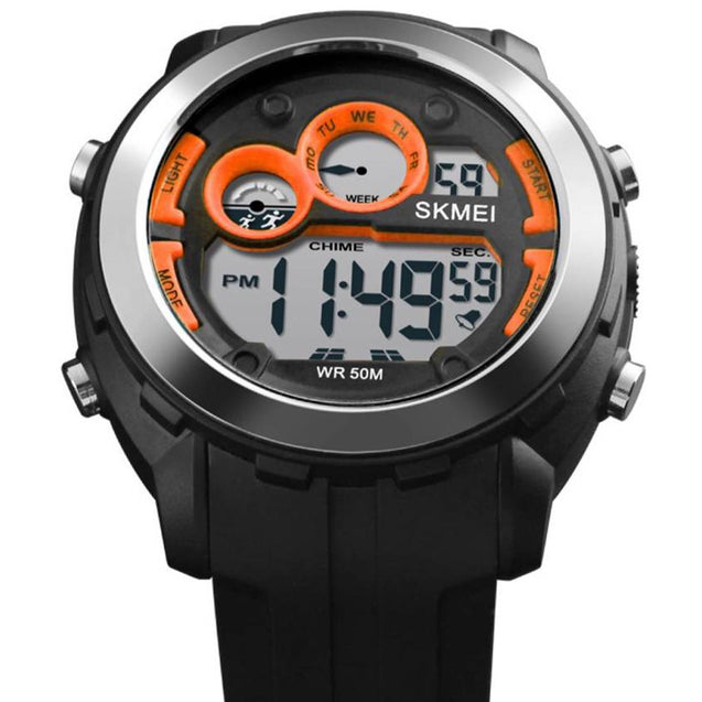 SKMEI Digital Orange Dial Men's & Boy's Watch - Mw76A