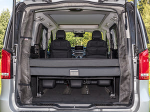 Mercedes Benz Marco Polo Campervan Mosquito Net FLYOUT can be rolled to the left on one side.
