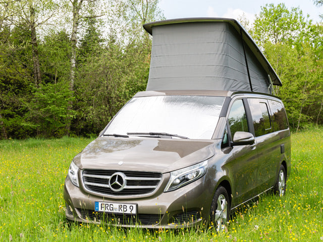 Mercedes Benz Marco Polo Campervan Thermal Mat ISOLITE Outdoor is concipated for usage in summer as well as winter.