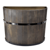 Wooden Half Barrel