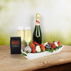 Chocolate, Strawberries & Champagne Gift Basket, gourmet gift baskets, champagne gift baskets, gift baskets