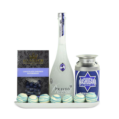Something Blue Liquor Gift Basket