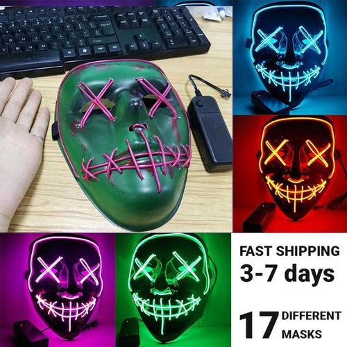 Halloween LED Mask **LIMITED EDITION** - Dank Meme Apparel