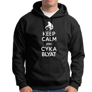 Keep Calm And Cyka Blyat Hoodie - Dank Meme Apparel