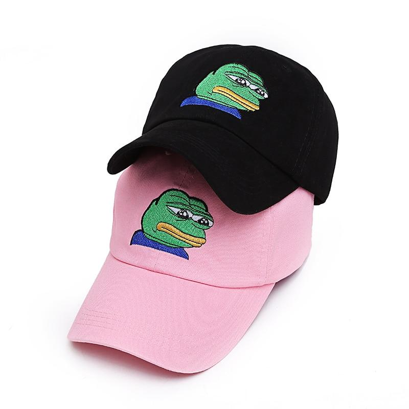 Sad Pepe Dad Cap - Dank Meme Apparel