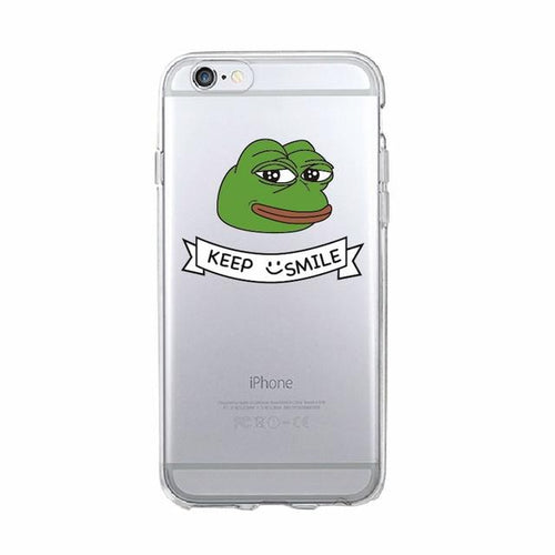 Keep Smile Pepe Phone Case - Dank Meme Apparel