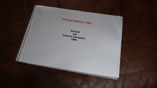 Porsche 911 993 Warranty and Customer Information Book Booklet Manual 1995
