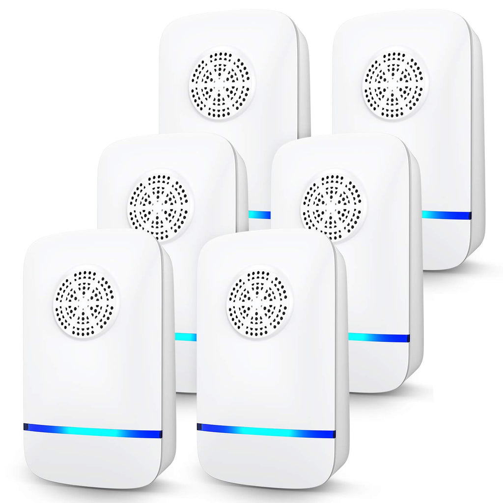GLOUE Ultrasonic Pest Repeller, 6 Packs, 2020 Upgraded, Electronic Indoor Pest Repellent Plug in for Insects, Mice,Ant, Mosquito, Spider, Rodent, Roach, Mosquito Repellent for Children