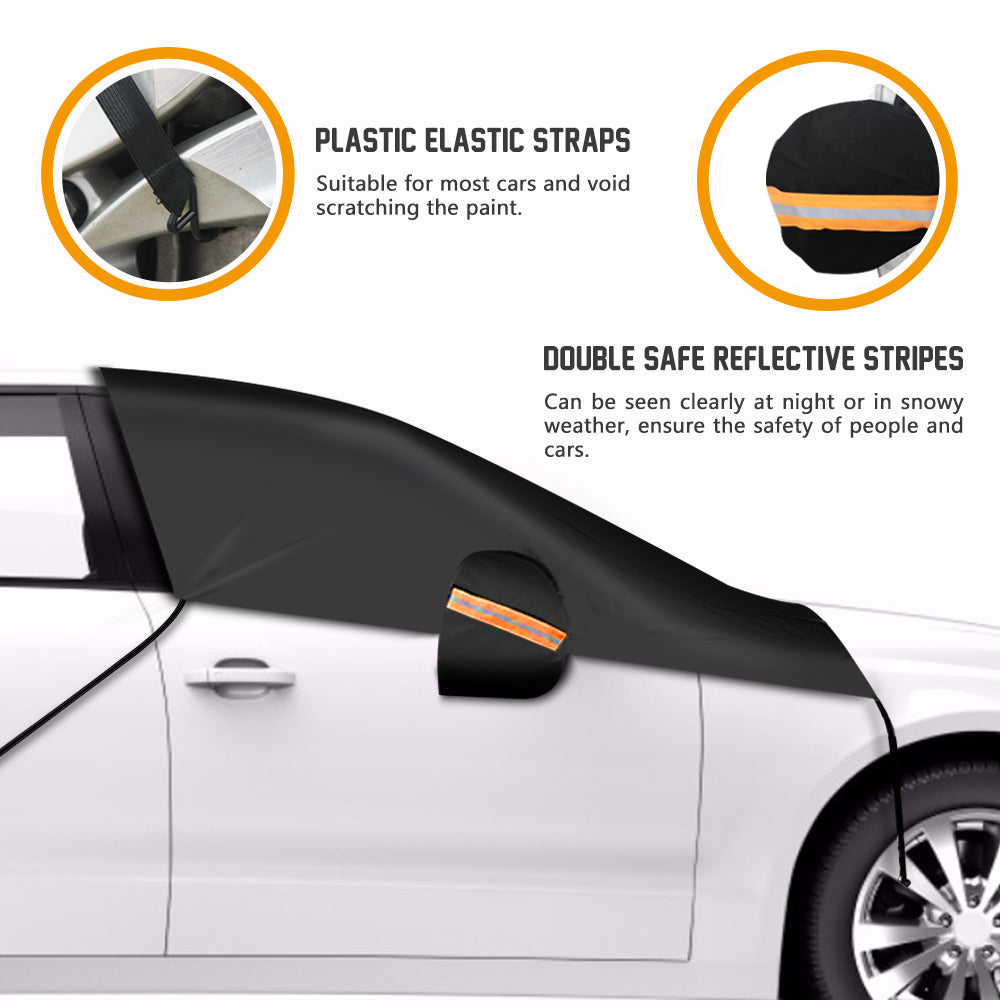 GLOUE Car Windshield Snow Cover Car Windshield Snow Ice Cover With Side Mirror Covers, Windshield Winter Cover Rain, Sun, Frost
