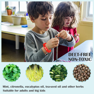 Mosquito Bracelet Mosquito Repellent Wristbands for Children and Adults Without deet Made with Natural Plant Based Ingredients (12 Pack)