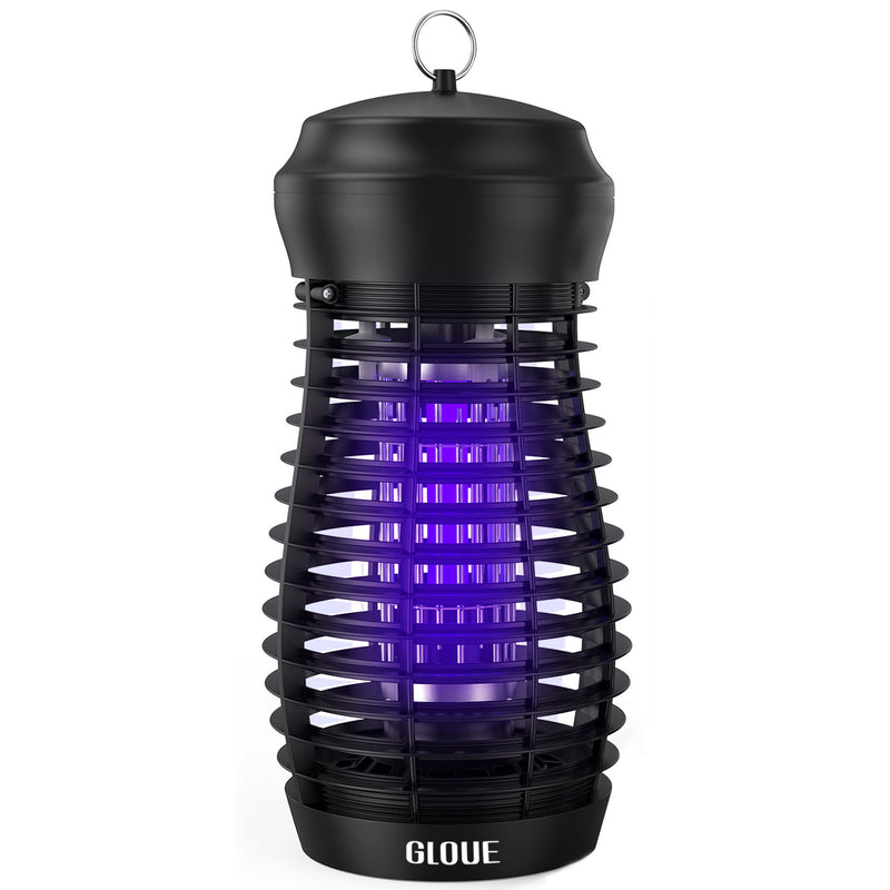 GLOUE Bug Zapper for Indoor & Outdoor - [ 2 in 1 ] High Powered Waterproof Electric Mosquito Zapper Killer, Insect & Fly Trap , Light Bulb Lamp for Backyard, Patio, Home