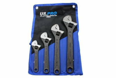 US PRO 4pc Adjustable Wrench/Shifting Spanner Set 6 8 10 12 - 2204 - SBW Trading Limited