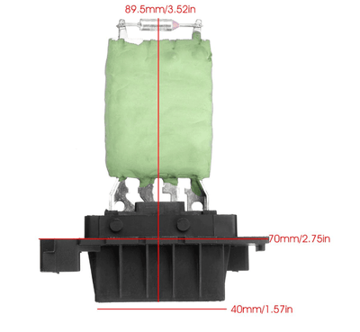 HEATER BLOWER RESISTOR MK2  PEUGEOT PARTNER  CITROEN BERLINGO (2008-on) 6480.55 - SBW Trading Limited