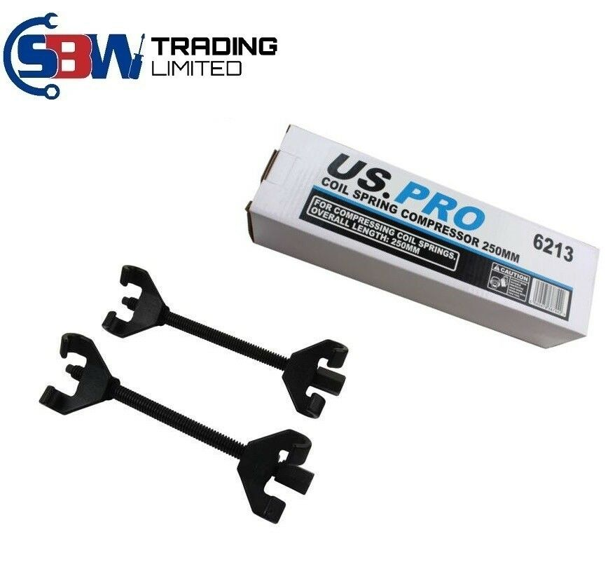 US PRO Coil Spring Strut Shocks Compressor Suspension Clamp 250mm (pair) 6213 - SBW Trading Limited