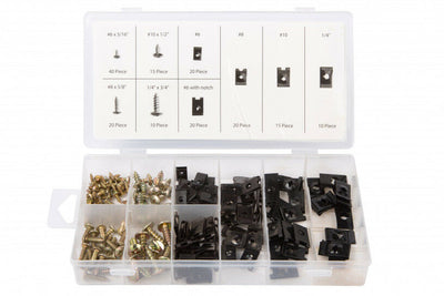 U-Clip assortment set with Screws. Spire Speed Clip Fasteners. 40532 - SBW Trading Limited