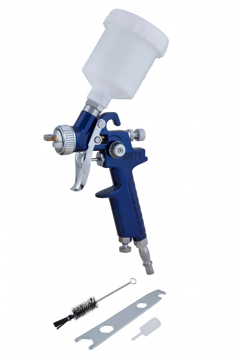 Bluespot Mini Touch Up HVLP Gravity Feed Spray Gun 125ml Cup 0.8mm Nozzle 07909 - SBW Trading Limited