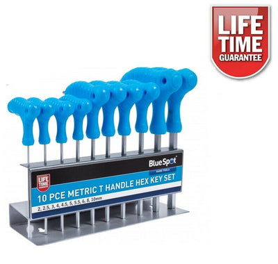 Professional 10pc T-Handle Allen Keys Set 2-10mm With Stand - SBW Trading Limited