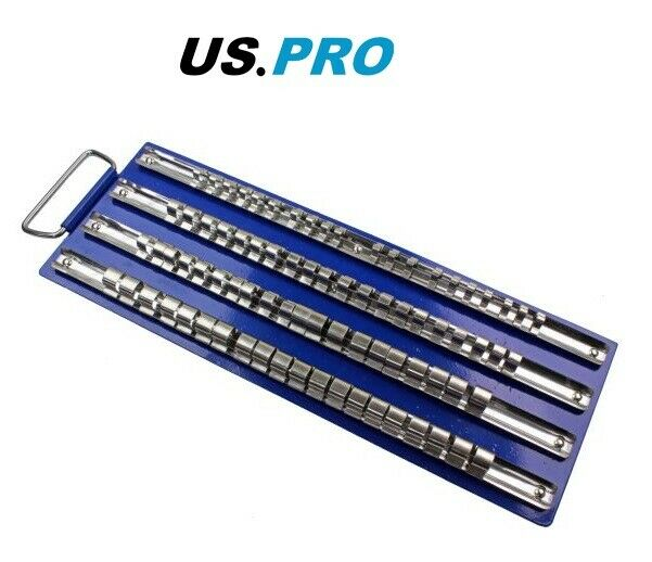 "US PRO Tools Socket Rail Tray holds 80 sockets 1/4"" 3/8"" 1/2"" drive - SBW Trading Limited"