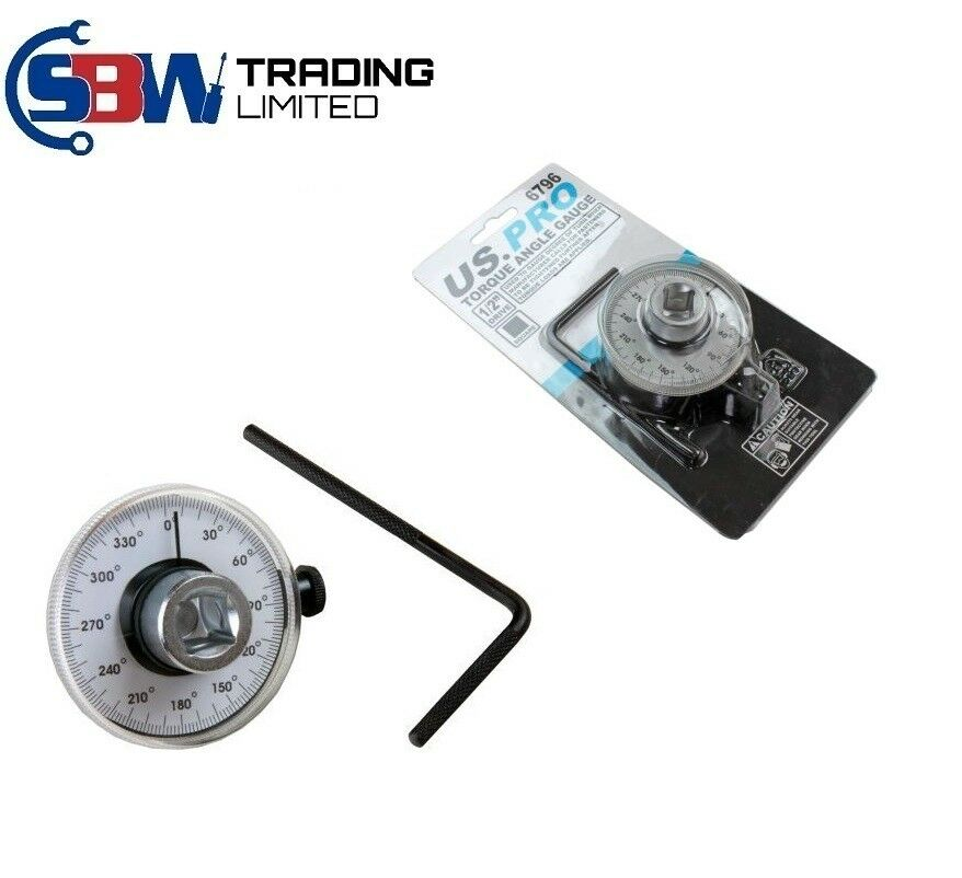 "US PRO 1/2"" DRIVE TORQUE ANGLE GAUGE - SBW Trading Limited"