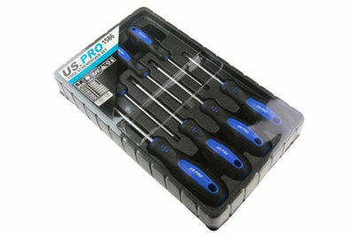 US PRO 7pc Torx Star Screwdriver Set TRX-Star Cushioned Grip Screwdrivers T10-30 B1586 - SBW Trading Limited