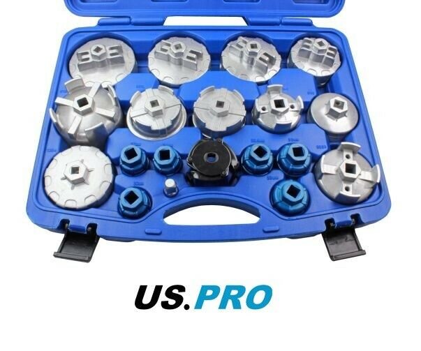 US PRO 19pc 3rd Gen Oil Filter Wrench Removal Set Multi Fitment  3018 - SBW Trading Limited