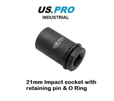 "US PRO INDUSTRIAL 1/2"" dr 21mm Scaffolders Impact Socket - SBW Trading Limited"