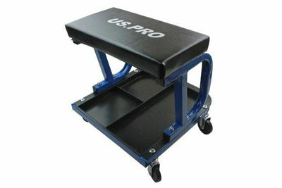 US PRO Tools Rolling Mechanics Stool With Tool Storage Tray Underneath Seat 5027 - SBW Trading Limited