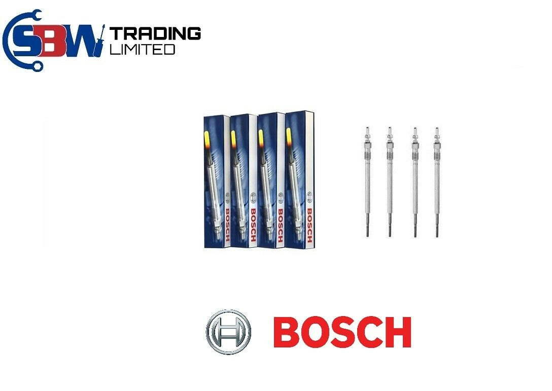 4x Bosch Glow Plugs 0250202036 GLP007 - SBW Trading Limited